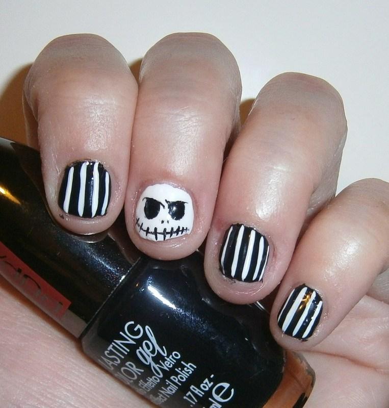 Halloween -Jack skellington nail art by sissynailsmakeup ...