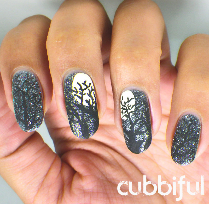 Full Moon Halloween Nails nail art by Cubbiful - Full Moon Halloween Nails Nail Art By Cubbiful - Nailpolis: Museum