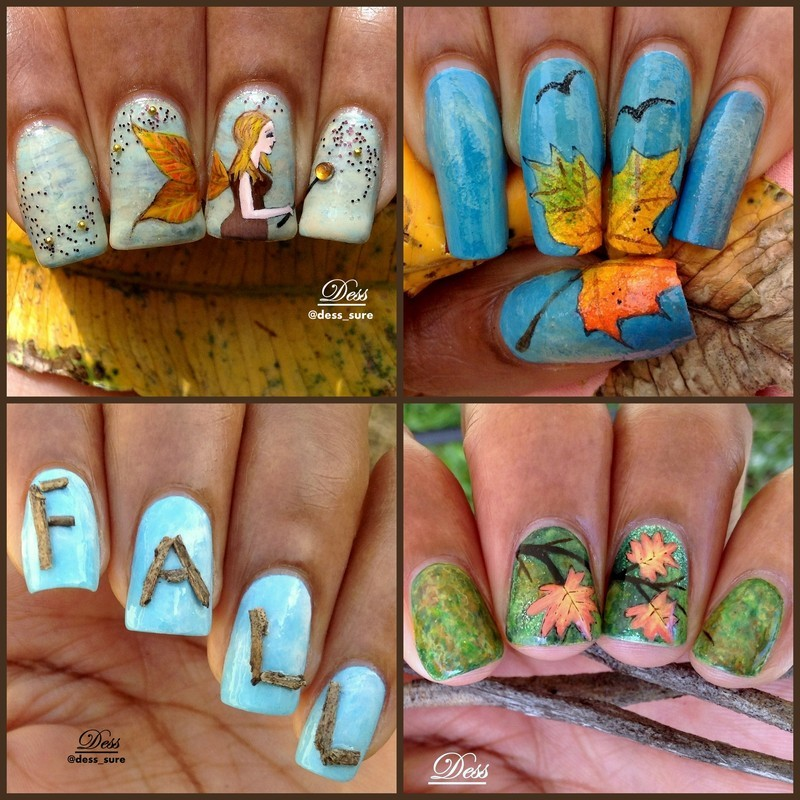 Fall collage nail art by Dess_sure