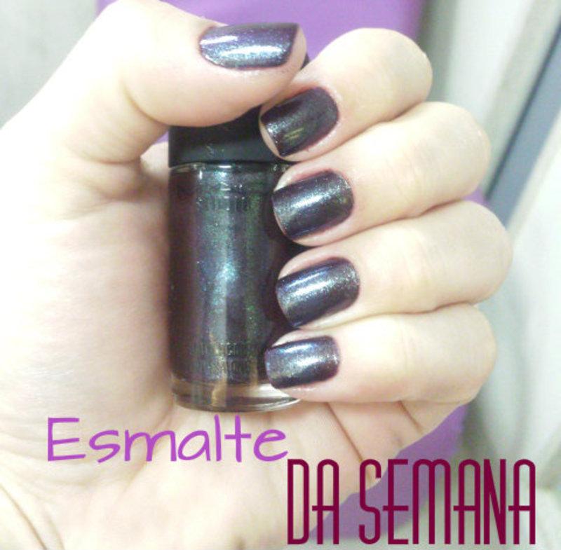 Purple Beatle  nail art by Charmaine Alves