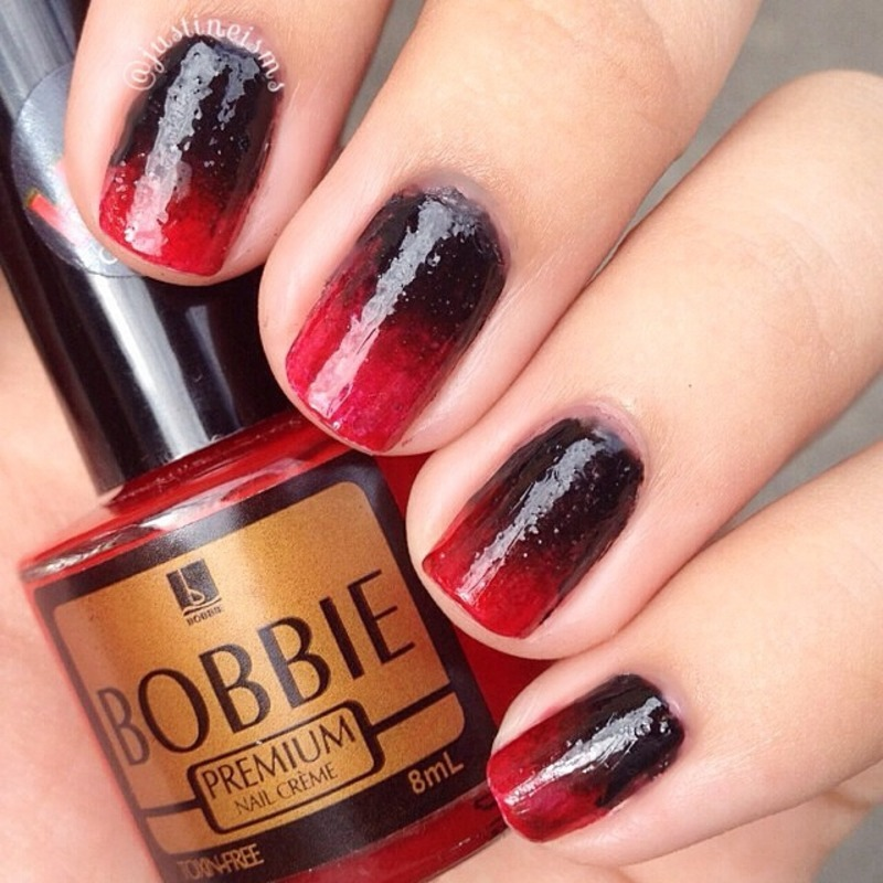 Red And Black Ombre Nails Black And Red Gothic Ombre