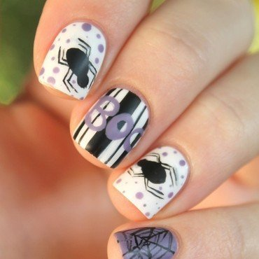 Cute Halloween nail art by Cocosnailss