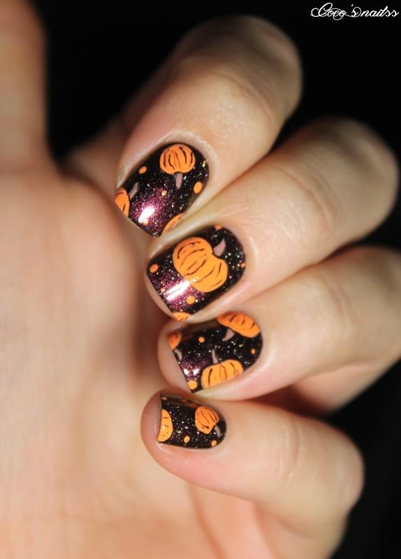 Pumpkiiiins nail art by Cocosnailss