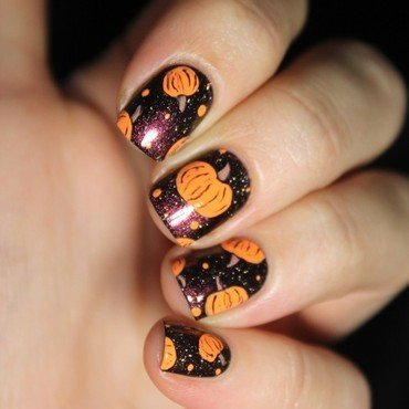 Pumpkiiiins nail art by Cocosnailss