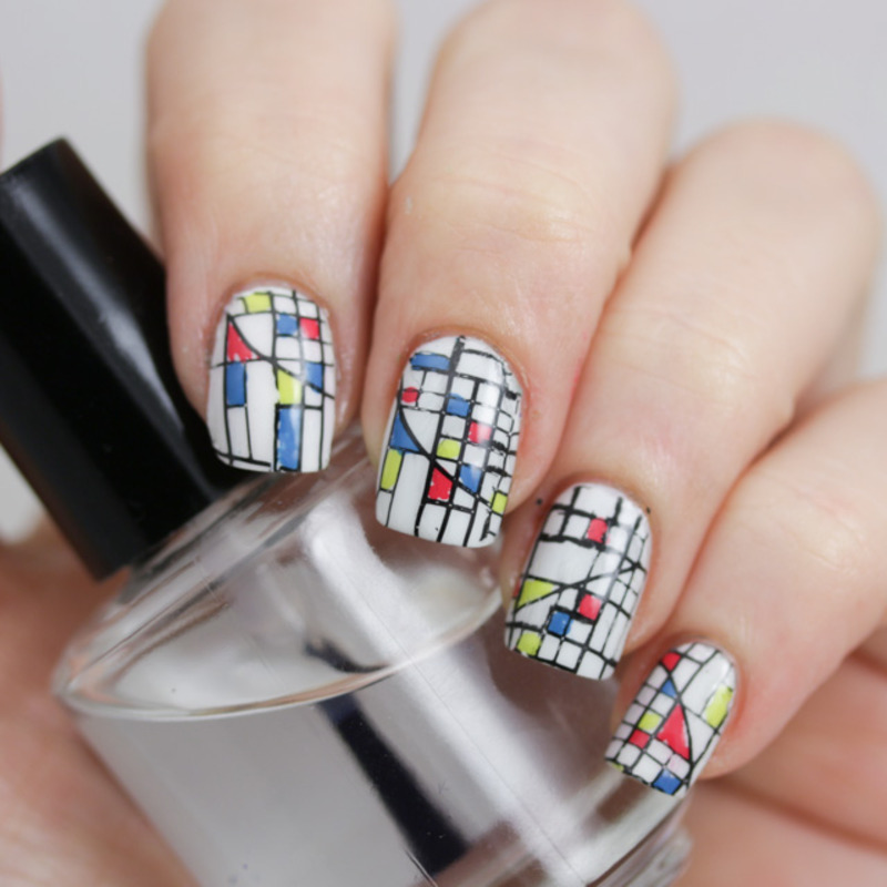 Abstract nail art Stamping with Emily de Molly 03 nail art by Cajon de los esmaltes