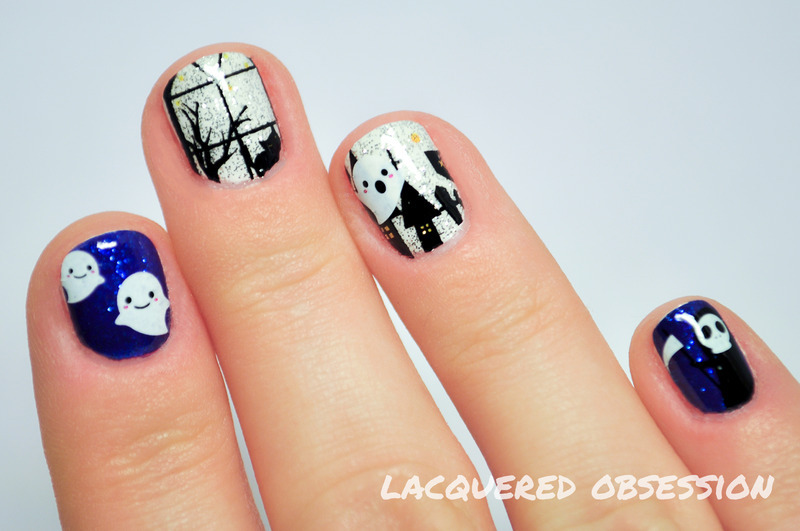 Halloween part two nail art by Lacquered Obsession