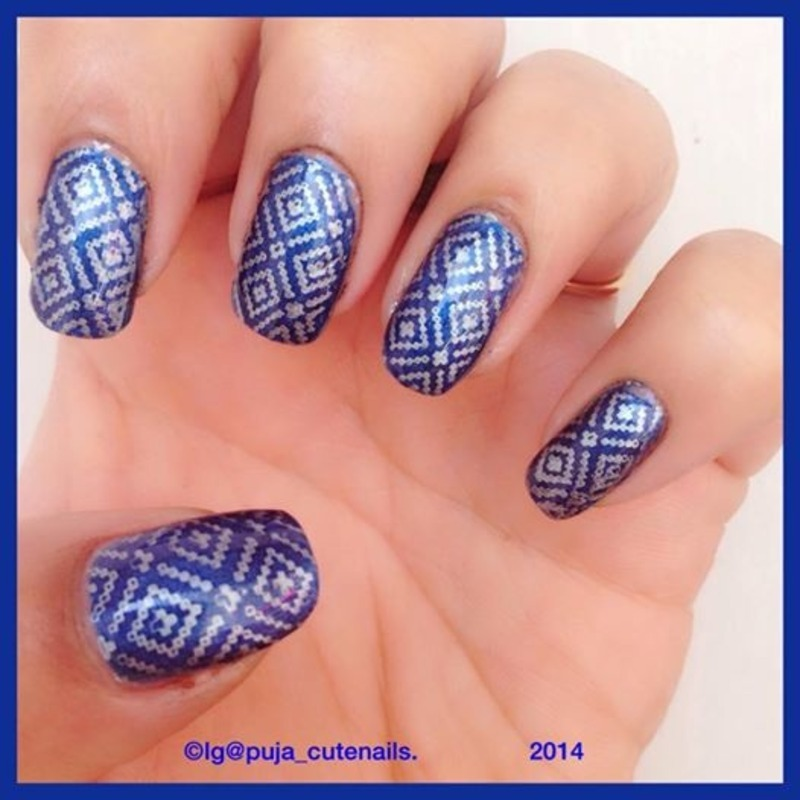 Winter sweater nails nail art by Puja Malhotra