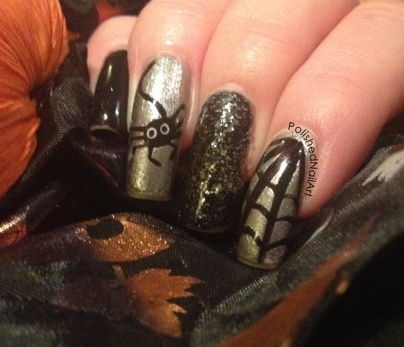 Spidery nail art by Carrie