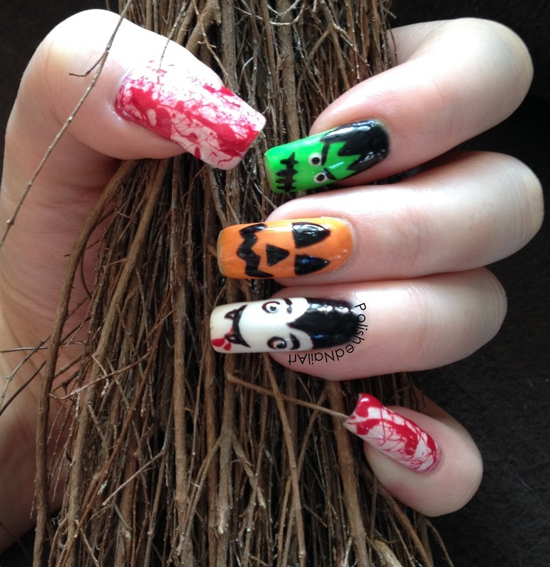 Halloween fright fest nail art by Carrie