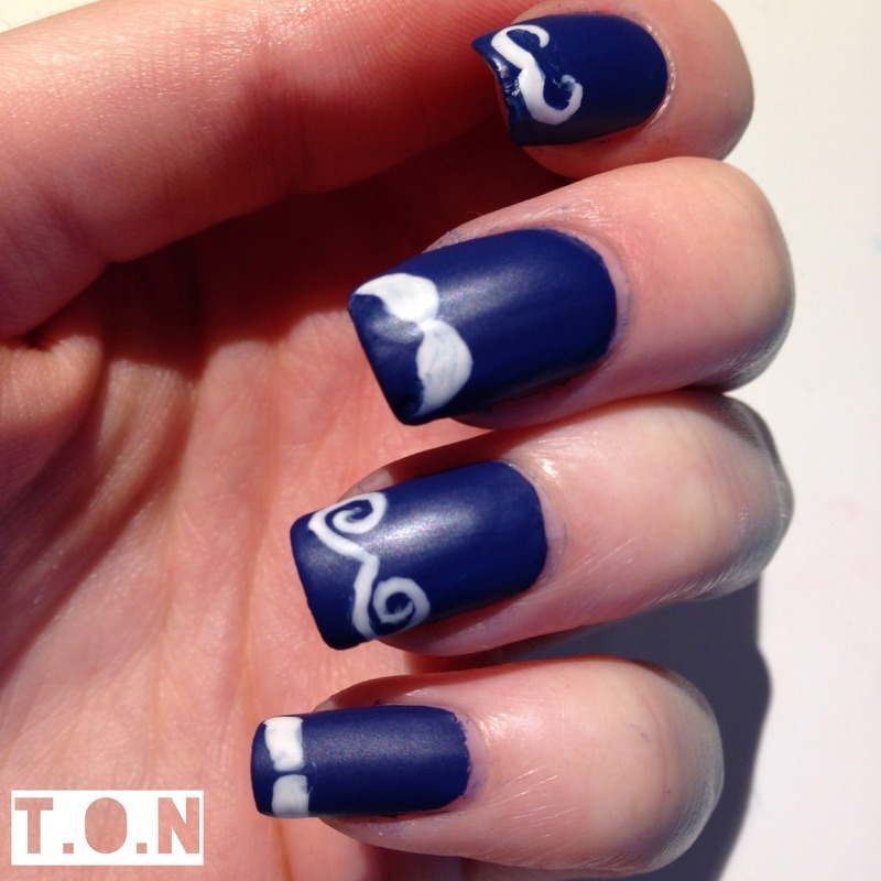 Movember nail art by Tipped Off Nails