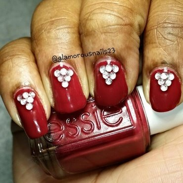 swatch with studs nail art by glamorousnails23