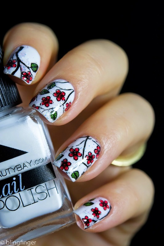 Stamping Decals nail art by  Petra  - Blingfinger