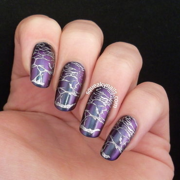 The Bosom of the Sea - Stamped  nail art by Squeaky  Nails