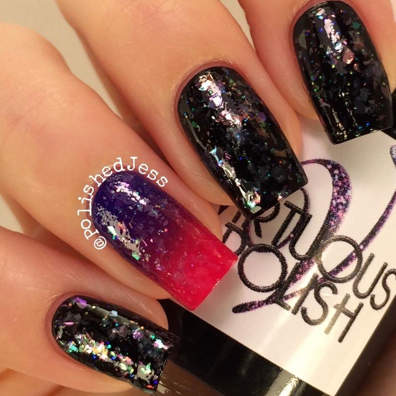 Iridescence  nail art by PolishedJess