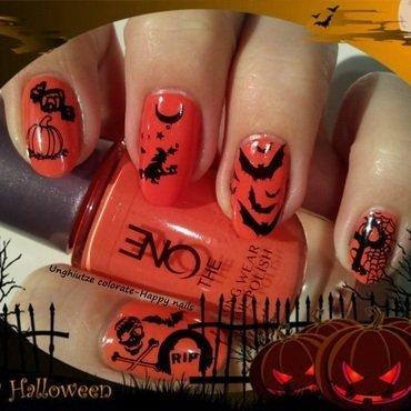 Halloween nail art by Oana  Alexandru