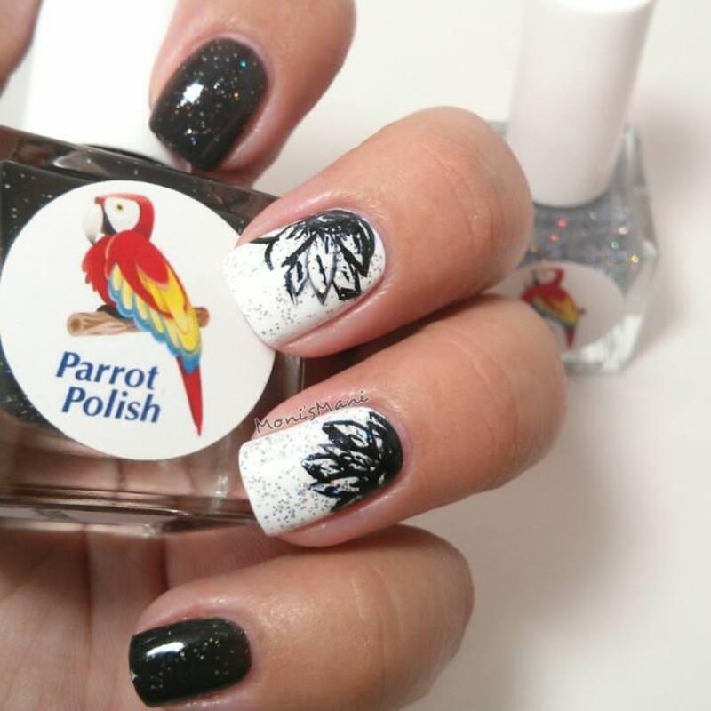 comforter mani nail art by Moni'sMani