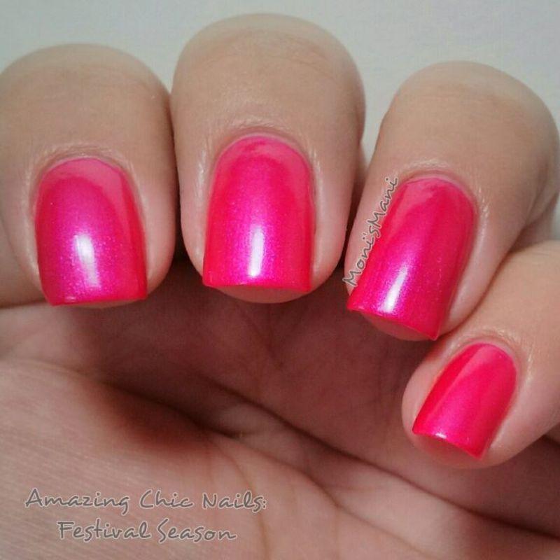 amazing chic nails festival season Swatch by Moni'sMani