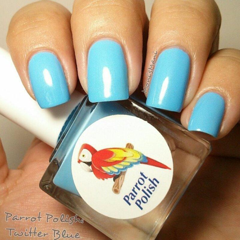 Parrot Polish twitter blue Swatch by Moni'sMani