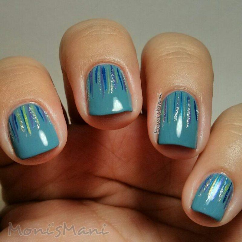 waterfall nail art by Moni'sMani