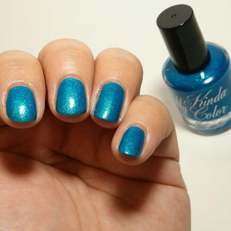 my kinda color super cool blue Swatch by Moni'sMani