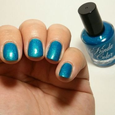 my kinda color super cool blue Swatch by Moni'sMani