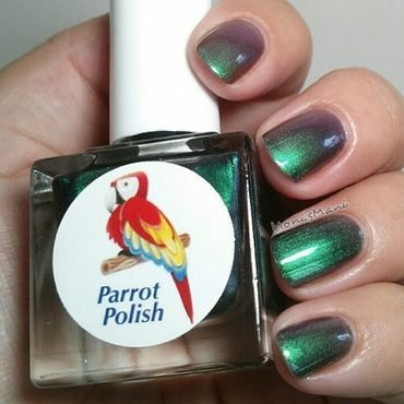 Parrot Polish frumos Swatch by Moni'sMani