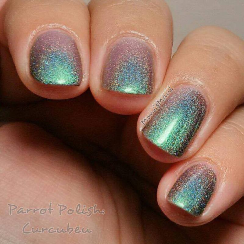 Parrot Polish curcubeu Swatch by Moni'sMani