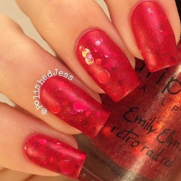 Retro Rad Red Jelly Sandwich nail art by PolishedJess