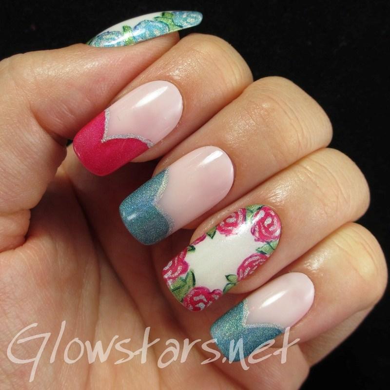 Holo Roses nail art by Vic 'Glowstars' Pires
