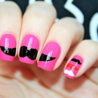 Movember nail art by Jane