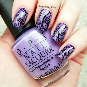 All about Purple  nail art by Easynailartideas