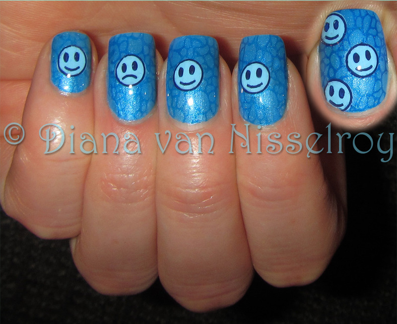 During sad times, remember the happy memories  nail art by Diana van Nisselroy