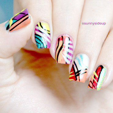 Modern art nail art by ssunnysideup (Sabrina)