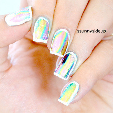 Metallic foil nails nail art by ssunnysideup (Sabrina)
