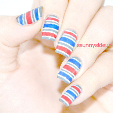 stripes nail art by ssunnysideup (Sabrina)