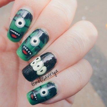 Zombie Minions nail art by melisa viriya