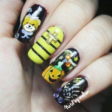 Cute Halloween nail art by melisa viriya