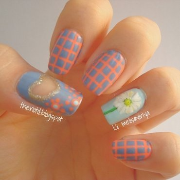 Spring Daisy nail art by melisa viriya