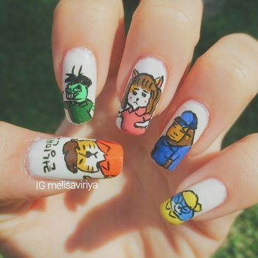 Running Man Nails nail art by melisa viriya
