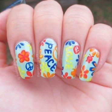 Peace And Love nail art by melisa viriya