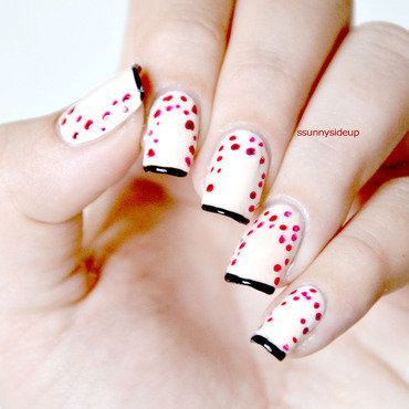 "Inspired by ""Me before You"" German book cover nail art by ssunnysideup (Sabrina)"