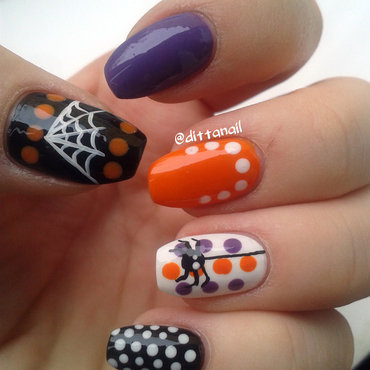Halloween nail art by Ditta