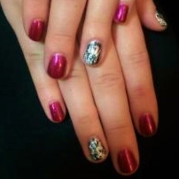 Crackle Me Crazy nail art by Toni Nailed It