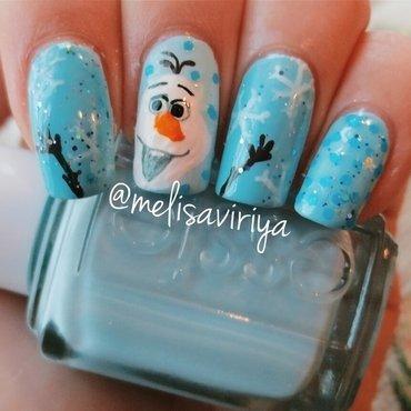 Olaf Nail Art nail art by melisa viriya