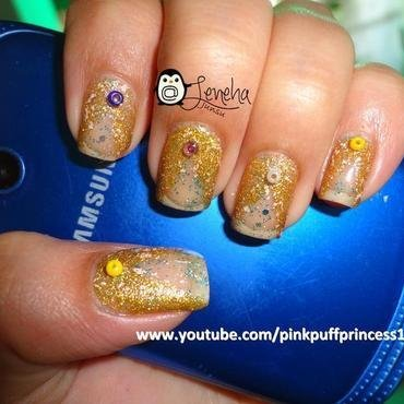 Negative Space Bling Bling Nail Art nail art by Leneha Junsu