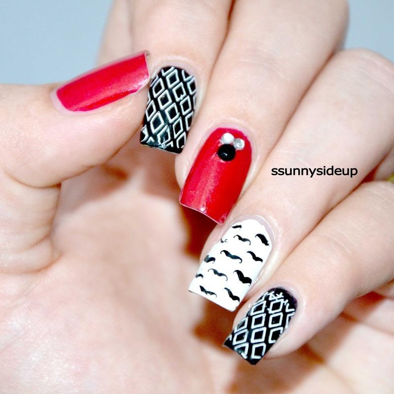 Hipster nails  nail art by ssunnysideup (Sabrina)