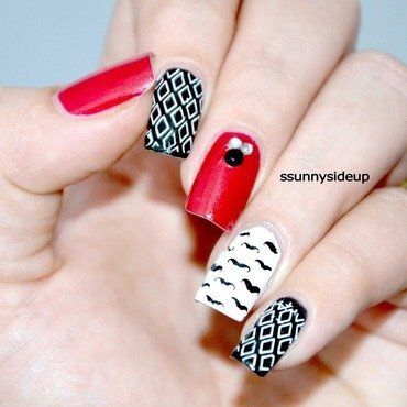 Hipster nails  nail art by ssunnysideup (Sabrina)