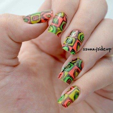 Reverse stamping nail art by ssunnysideup (Sabrina)