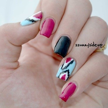 Ikat nails  nail art by ssunnysideup (Sabrina)
