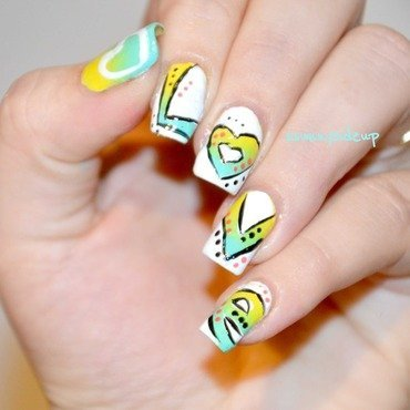 Love graffiti nails nail art by ssunnysideup (Sabrina)